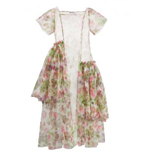Molly Goddard White Johanna Sheer Dress