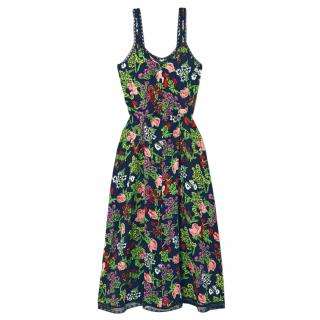 Molly Goddard Romy lace-trimmed floral-print midi Dress
