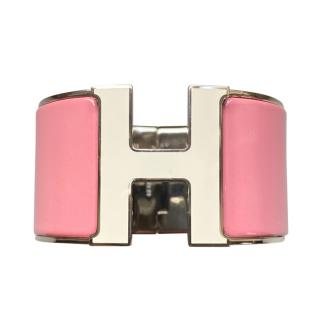 Hermes Pale Pink Extra Wide Clic H GM