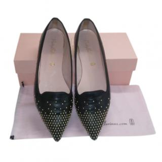Pretty Ballerinas Ella Studded Leather Loafers