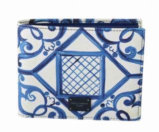 Dolce & Gabbana Blue Majolica Print Wallet