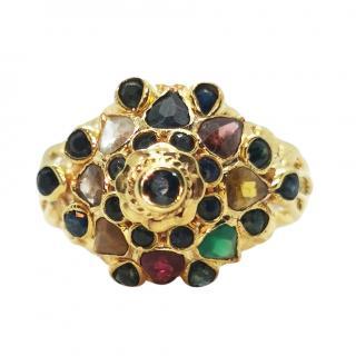 Bespoke Thai Princess 18ct Yellow Gold Ring