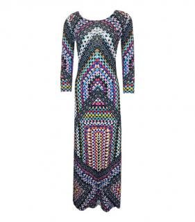 Temperley London Scoop Neck Printed Maxi Dress
