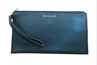 Michael Michael Kors Black Leather Pouch