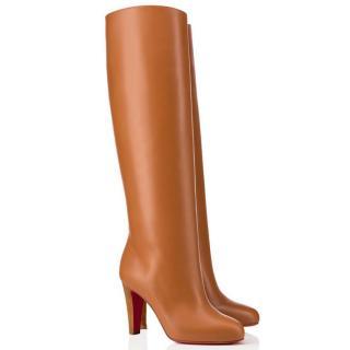 Christian Louboutin Dorififa 85 Tan Leather Boots