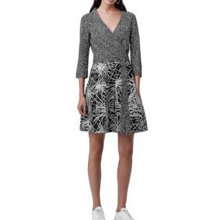 DVF Jewel Jersey Multi-Print Wrap Dress