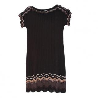 M Missoni Black Woo Blend Mini Dress