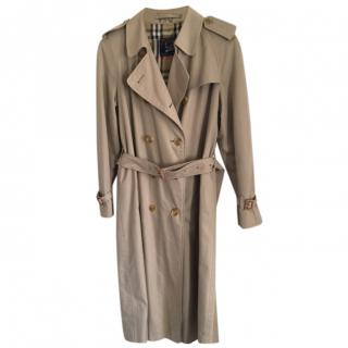 Burberry's Vintage Beige Double Breasted Trench Coat