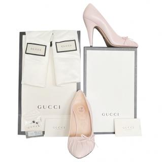 Gucci powder pink Charlotte pumps