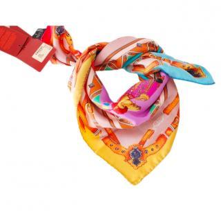 Etro Multicoloured Silk Printed Scarf