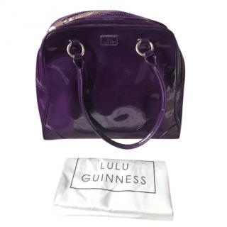 Lulu Guinness Suze Purple Patent Leather Tote