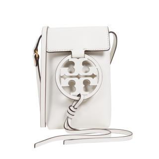 Tory Burch Cream Leather Miller Phone Crossbody Bag