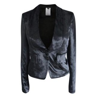 Joseph Black Velvet Tailored Jacket