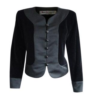 Yves Saint Laurent Vintage Wool & Velvet Tailored Jacket