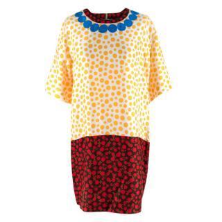 Louis Vuitton x Yayoi Kusama Silk Monogram Spotted Dress