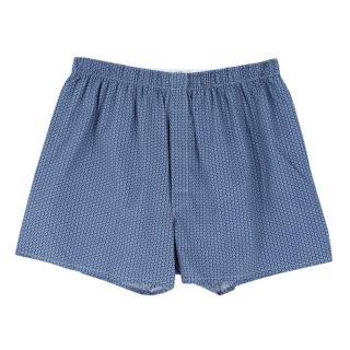 Sunspel Blue Cotton Boxer Shorts