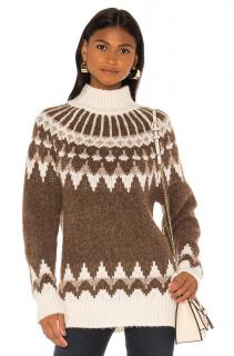 Frame Alpaca Blend Fairisle Knit Jumper