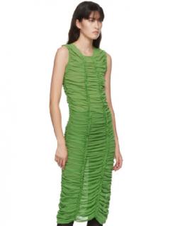 Molly Goddard Lime Green Mesh Elisa Dress