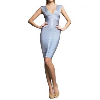 Herve Leger Chambray Elise Mini Bandage Dress