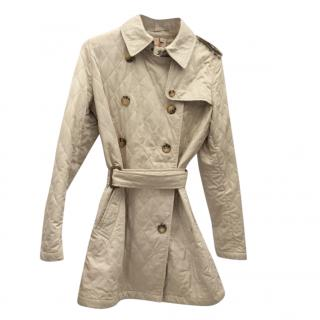 Burberry Diamond Quilted Belted Trench