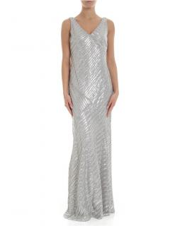 Lauren Ralph Lauren Grey Pearl Kendalyn Embellished Gown