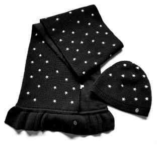 Dior Kids Embroidered Wool Hat & Scarf