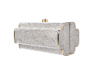 Judith Leiber Crystal Embellished Chain Clutch
