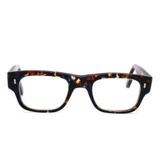 Cary Grant Blue & Brown Acetate Square Frames Glasses