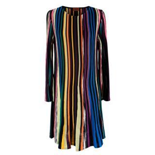 Missoni Multi-coloured Striped Knit Shift Dress