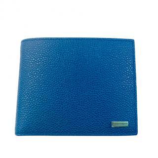 Dolce & Gabbana Mens Blue Leather Wallet