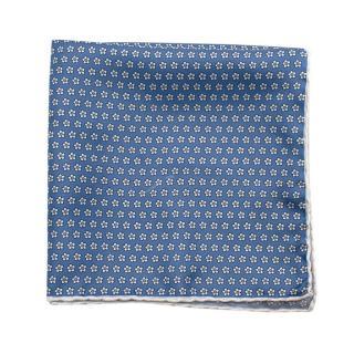 Breuer Blue Floral Pattern Pocket Square