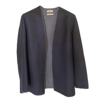 Hermes VIntage Cashmere Black & Grey Reversible Cardigan