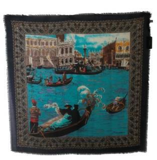 Dolce & Gabbana Venice Canals Cashmere & Silk Scarf