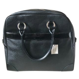 Lulu Guinness Black Pebbled Leather Suzy Bag