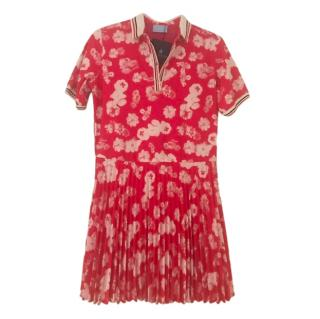 Lanvin Pink Floral Print Mini Dress