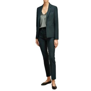 Joseph William Teal Wool Tailored Jacket