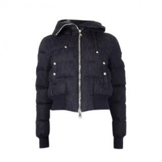 Moncler Sotiria Puffer Denim Jacket