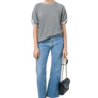 Current/Elliott Melange Paint Splatter Sweatshirt