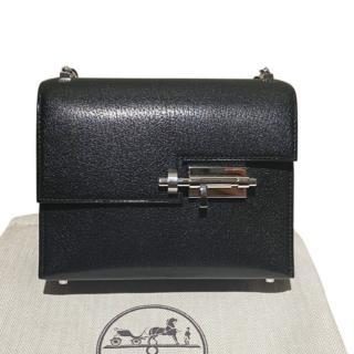Hermes Noir Chamkila Leather Verrou Chaine Mini Bag PHW