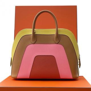 Hermes Rainbow Epsom Leather Bolide 1923 PHW