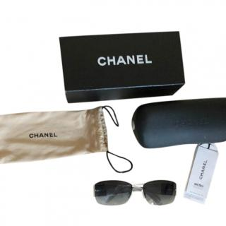 Chanel Vintage Crystal CC Rimless Sunglasses