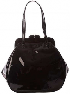 Lulu Guinness Black Patent Pollyanna Bag