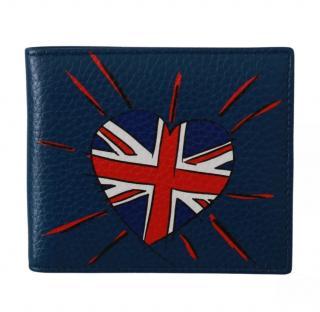 Dolce & Gabbana Union Jack Heart Blue Wallet