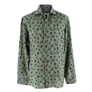 Donato Liguori Green Floral Tailored Long Sleeve Shirt