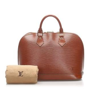 Louis Vuitton Brown Epi Leather Alma PM