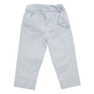 I Giacomini Blue Striped Baby Trousers