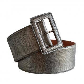 Ralph Lauren Collection Silver Python Waist Belt
