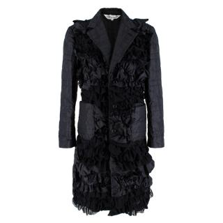 Comme des Garcons Black Ruffled Padded Coat