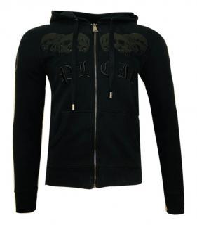 Philipp Plein black cotton zipper PLEIN hoodie