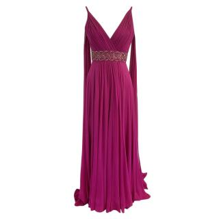 Jenny Packham embellished magenta gown
